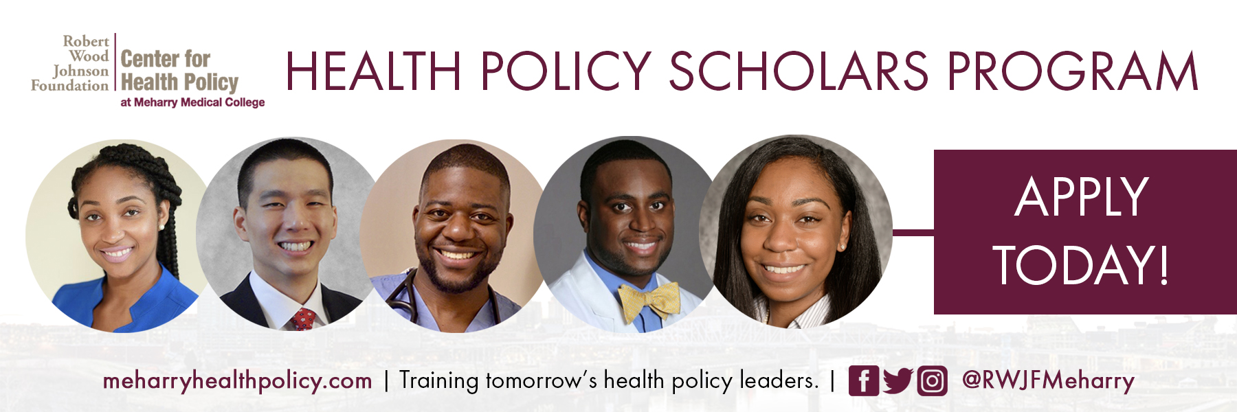 Banner promoting the Health Policy Scholars Program. Click to apply.