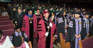 Faculty precession kicks off Convocation.