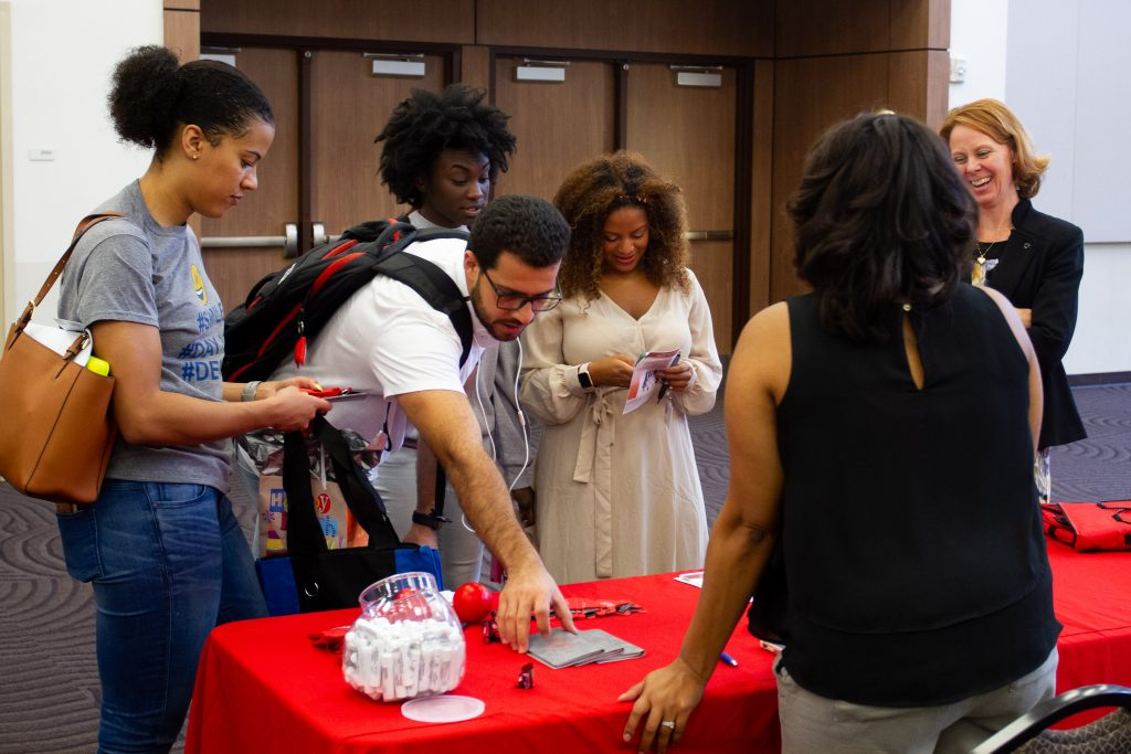 Recruiters engage students at the Career and Residency Fair.