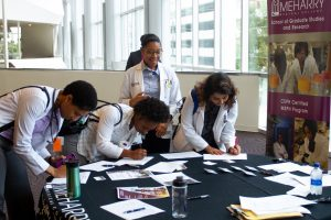 Medical students sign up to attend the Career and Residency Fair.