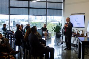 Mayor Briley speaks at the Data Science Institute launch.