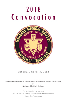Front cover of the 2018 Convocation program.