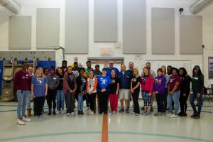 A group photo of Meharry students and Haywood Elementary educators.