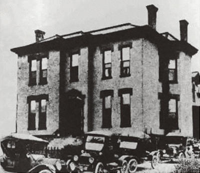 Historical photograph of the Hale Hospital building.