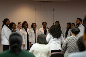 The Meharry Gospel Choir sings to attendees.