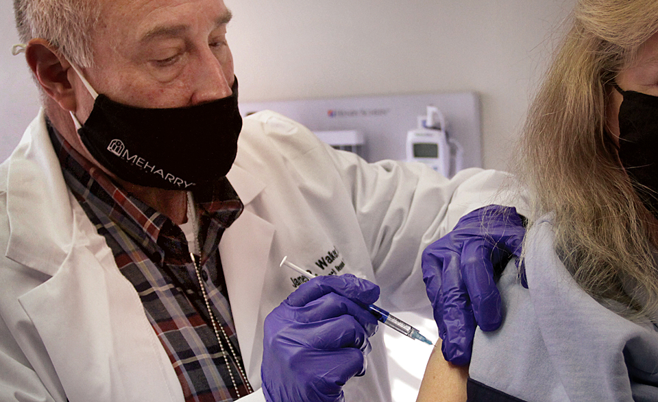 Vaccine trials-giving the shot